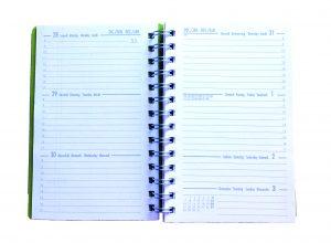 interno agenda tascabile verticale
